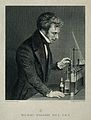 Michael Faraday. Line engraving by J. Cook after H. Anelay. Wellcome V0001856.jpg