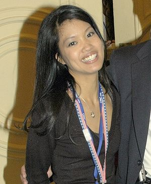 Don Irvine with Award winner Michelle Malkin a...