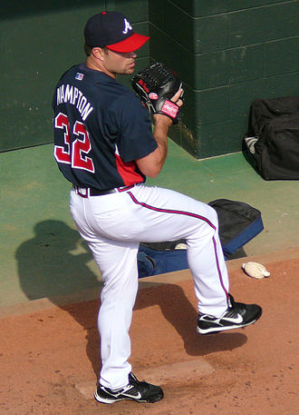 Mike Hampton - Hampton with the Braves in 2008