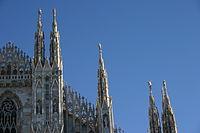 Le haut de la cathédrale de milan