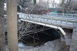 Frankford Creek - Mill Rd Bridge (1930) over Tookany Creek in Elkins Park.