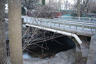 Frankford Creek - Mill Rd Bridge (1930) over Tookany Creek in Elkins Park.