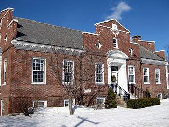 Millbury, Massachusetts - Millbury Public Library in the Snow 01
