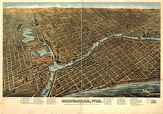 History of Milwaukee - Milwaukee in 1872, looking west