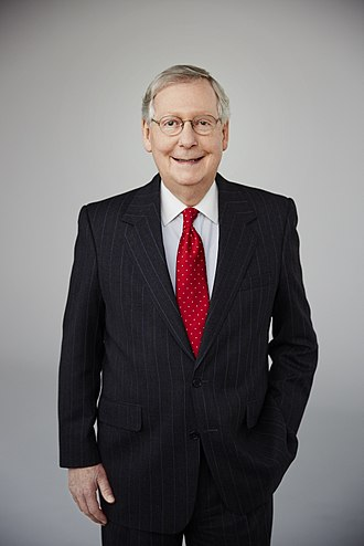 U.S. Senator Mitch McConnell, plaintiff in McConnell v. Federal Election Commission Mitch McConnell 2016 official photo.jpg
