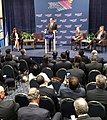 Mnuchin, José Antonio Meade and Mauricio Cárdenas Santamaría at 2017 Miami Conference.jpg
