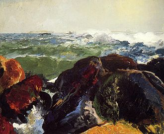 Worcester Art Museum - Monhegan Island, George Wesley Bellows, Worcester Art Museum