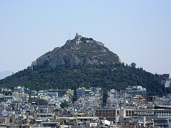 English: Mount Lycabettus, Athens, Greece. Fra...