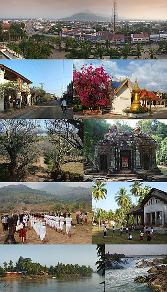 Champasak Province - Image: Montage of Champasak Province, Laos