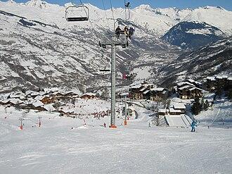La Plagne - Montchavin in February 2003