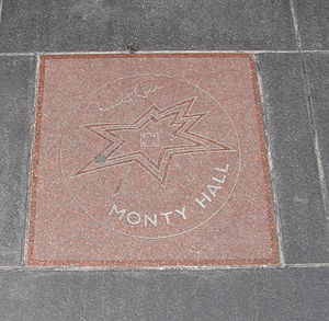 Monty Hall - Hall's star on Canada's Walk of Fame