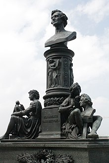 Monument to Ernst Rietschel by Johannes Schilling, Bruhl's Terrace, Dresden (Source: Wikimedia)