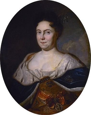 Портрет Екатерины I работы Карела де Моора, 1717 года.