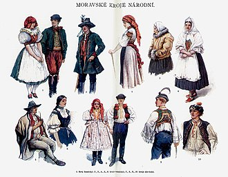 Moravians - Image: Moravian national costumes
