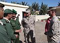 Moroccan service members talk with U.S. Marine Corps Brig. Gen. Charles G. Chiarotti, center, the deputy commander of U.S. Marine Corps Forces Europe and Africa, and 1st Lt. Ben Baker, right, an assistant 120413-M-FR139-035.jpg