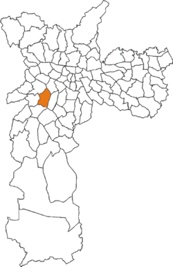 The location of Morumbi district in São Paulo