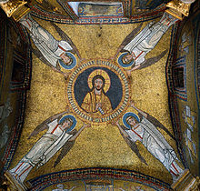 Mosaic of the vault of the chapel of San Zeno (IX century).jpg