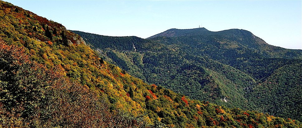 Mount Mitchell from Blue Ridge Parkway