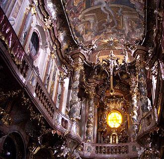 Cosmas Damian Asam - Interior of the Asamkirche in Munich