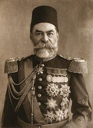 "1913 Ottoman coup d'état - The Grand Vizier and leader of the three-month ""Great Cabinet"", Ahmed Muhtar Pasha."