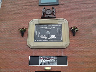 Munich air disaster - A plaque at Old Trafford in memory of the Munich air disaster