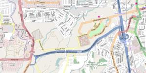 Muntinlupa–Cavite Expressway - Image: Muntinlupa Cavite Expressway Map
