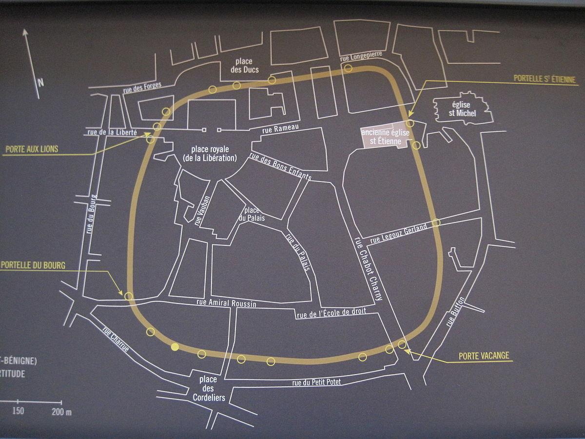 Périmètre Du Mur D Aurélien castrum de dijon — wikipédia