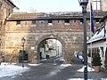 Nürnberg Frauentormauer Kartäusertor mit Turm rotes D.jpg