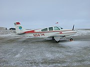BE33 (N567M) at Cambridge Bay Airport, Nunavut, Canada