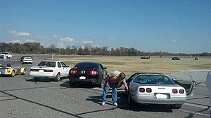 Memphis International Raceway - Picture of a NASA Autocross in November 2012 at Memphis International Raceway.