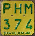 NETHERLANDS 2004 -MOPED-SCOOTER PLATE - Flickr - woody1778a.jpg
