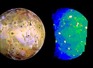 Volcanology of Io - Thermal emission map of Io by Galileo