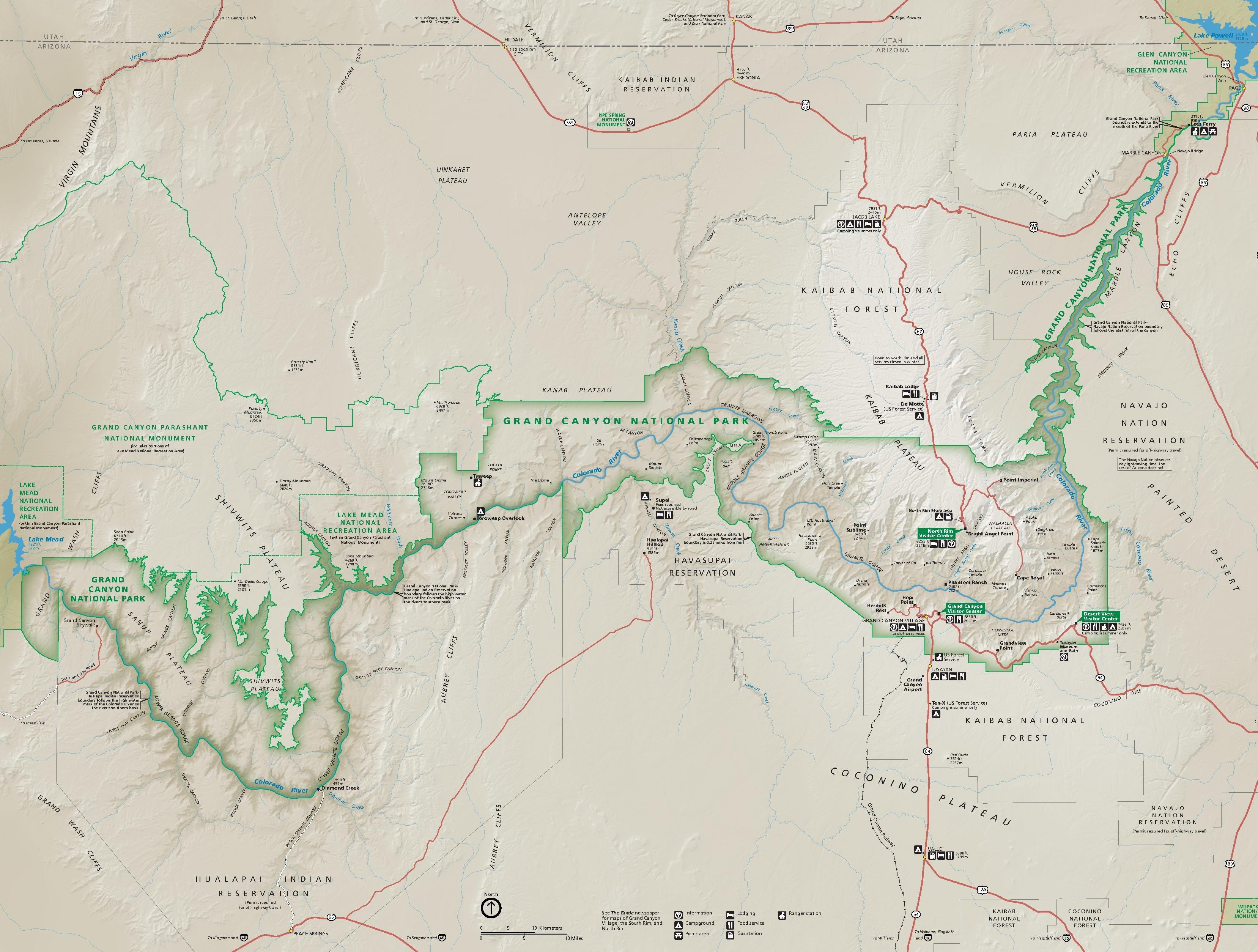 File Nps Grand Canyon National Park Map Pdf Wikimedia Commons