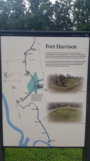 Fort Harrison - National Park Service marker for Fort Harrison
