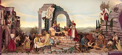 A Typical Neapolitan Presepe Or Presepio Nativity Scene Local Creches Are Renowned For