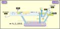 Nagoyako station map Nagoya subway's Meiko line 2014.png