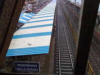 Nala Sopara railway station - Image: Nalla Sopara overview Platform 3 & 4
