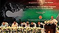 Narendra Modi addressing at the conferring of the Award of Bangladesh Liberation War Honour on Former Prime Minister, Shri Atal Bihari Vajpayee, in Dhaka, Bangladesh. The President of Bangladesh (1).jpg