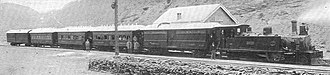 Andean Railway - Passenger train at Mendoza in 1907.