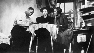 Native Son (play) - Canada Lee (Bigger Thomas), Eileen Burns (Miss Emmett) and Evelyn Ellis (Hannah Thomas)