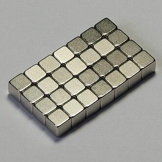 Neodymium magnet - Nickel-plated neodymium magnet cubes