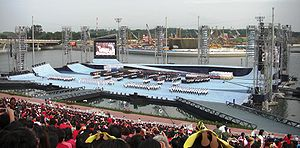 Singapore National Day Parade - Parade being held at the Marina Bay Floating Stadium in 2007