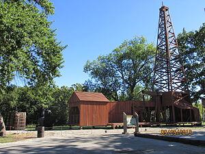 Nellie Johnstone No. 1 - Replica of Nellie Johnstone No. 1 drilling rig in Bartlesville, Oklahoma. Photo taken September 29, 2013