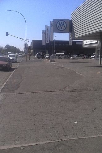 Upington - Nelson Mandela drive in the upington cbd