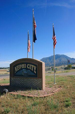 Nephi, Utah - City sign
