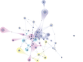 Network graph visualization showing bibliography and keywords.png
