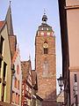Neustadt Weinstrasse Stiftskirche Turm.JPG