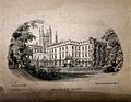 New College, Oxford; panoramic view. Lithograph by Mackenzie Wellcome V0014139.jpg