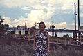 New Orleans - Algiers - My mother on the levee - September 1972.jpg
