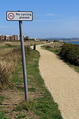 New cliff-top path at Milford on Sea, no cycling please - geograph.org.uk - 1430870